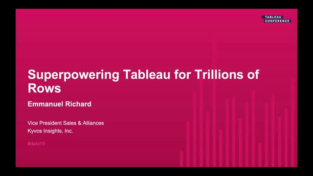 Superpowering Tableau for Trillions of Rows