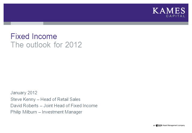 Fixed Income - The Outlook for 2012