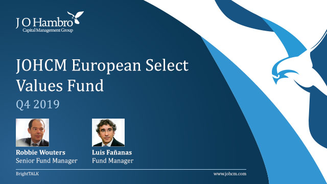 JOHCM European Select Values Fund Q4 2019 Update