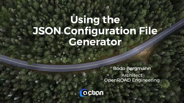Using the Actian OpenRoad JSON Configuration File Generator