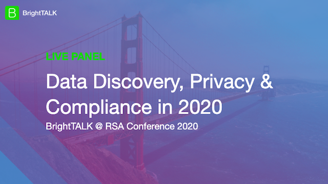Data Discovery, Privacy & Compliance in 2020