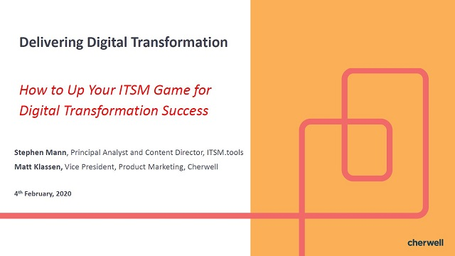 How to Up Your ITSM Game for Digital Transformation Success