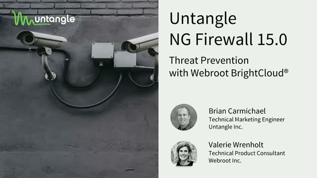 Untangle NG Firewall 15.0 with Webroot BrightCloud® IP Reputation Service