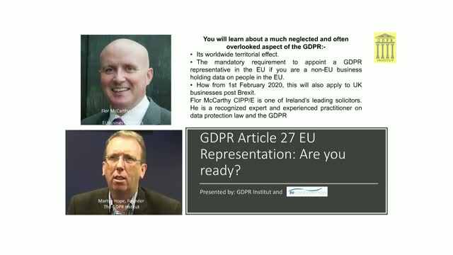 GDPR Article 27 EU Representation: Are you ready?