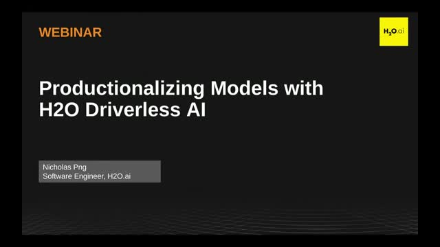 Productionalizing H2O Driverless AI Models