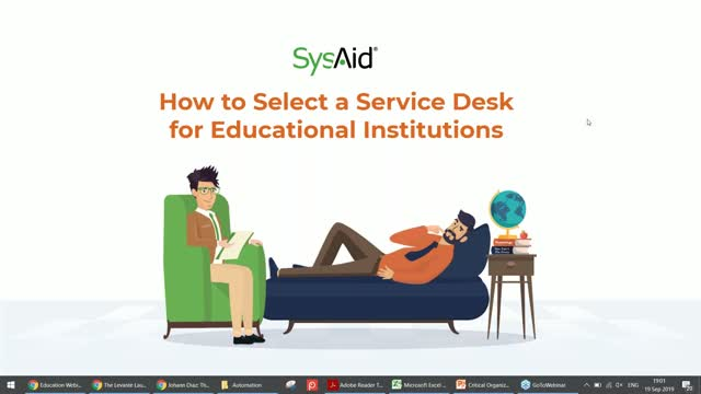 Panel Discussion Webinar with IT Experts: How to Select a Service Desk for Educa