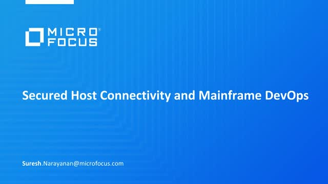 Secured Host Connectivity and Mainframe DevOps