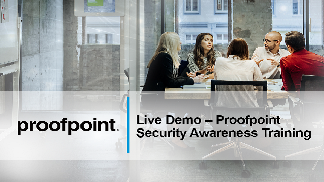 Proofpoint Live Demo: Prevent Phishing Attacks with Security Awareness Training