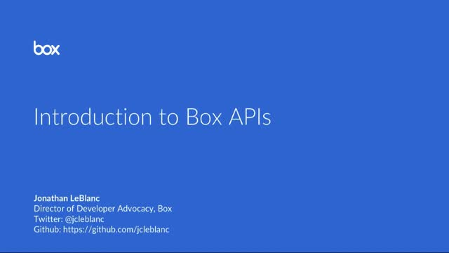 Introduction to Box APIs
