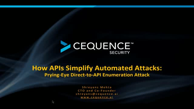 How APIs Simplify Automated Attacks: Prying-Eye Direct-to-API Enumeration Attack