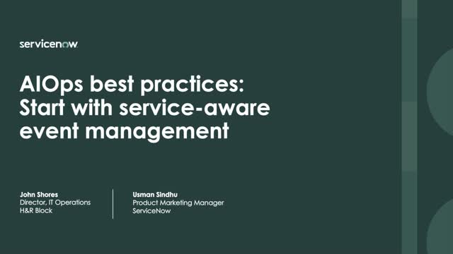 AIOps best practices: Start with service-aware event management