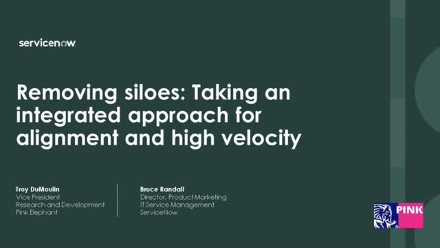 Removing IT Silos: Accelerating innovation across the IT value chain