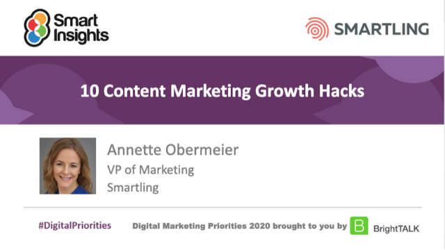 10 content marketing growth hacks
