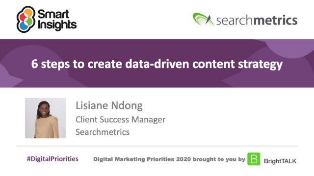 6 steps to create data-driven content strategy