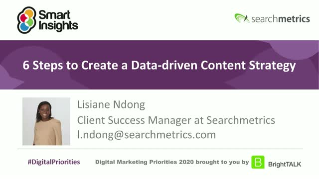 6 steps to create a data-driven content strategy