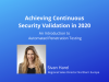 Achieving Continuous Security Testing in 2020