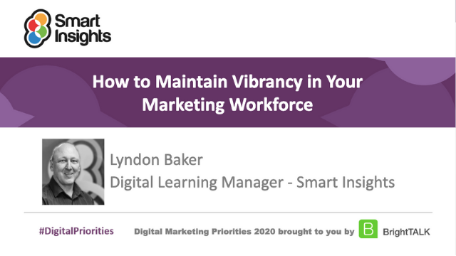 How to maintain vibrancy in your marketing workforce