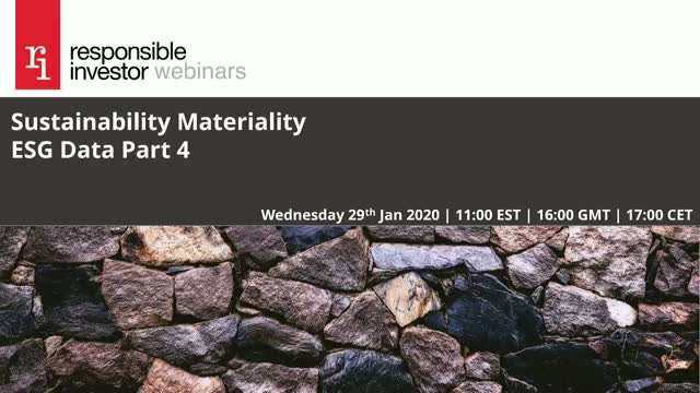 Sustainability Materiality: ESG Data Part 4