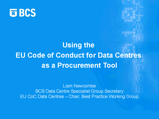 EU Code of Conduct for Data Centres