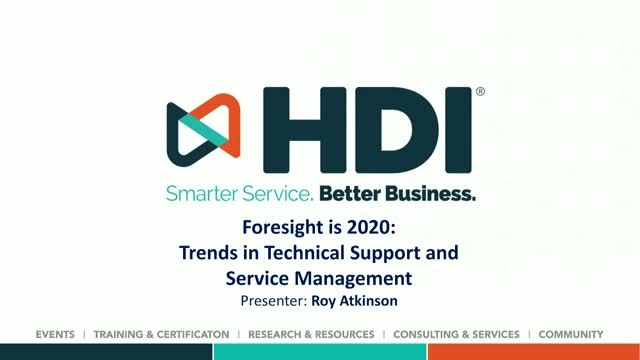 Foresight Is 2020: Trends in Technical Support and Service Management