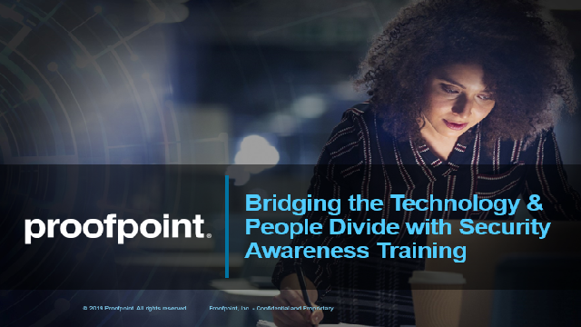Bridging the Technology & People Divide with Security Awareness Training
