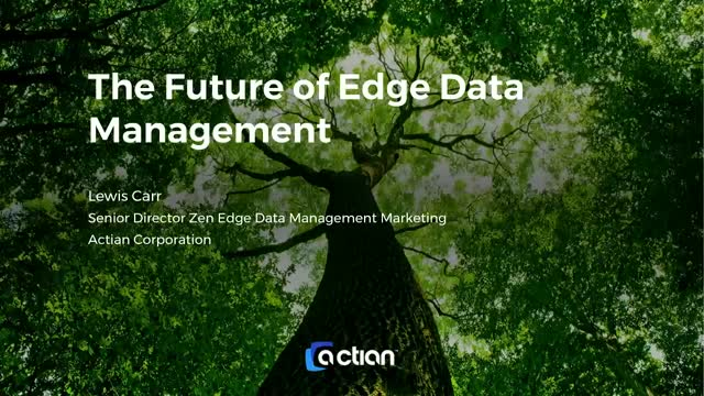 The Future of Edge Data Management