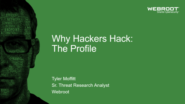Why Hackers Hack: The Profile
