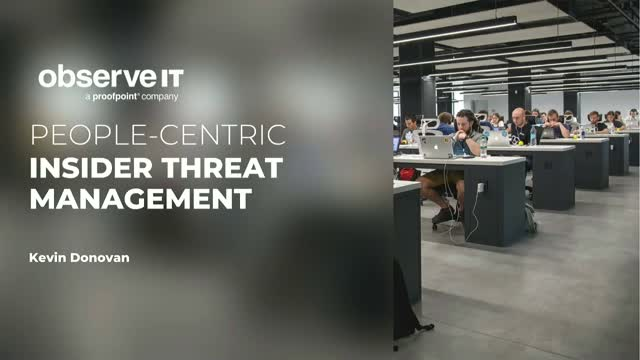 Live Demo: A People-Centric Approach to Insider Threat Management