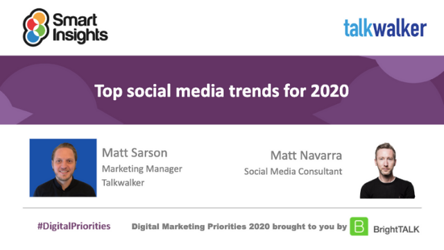 Top social media trends for 2020 with Matt Navarra