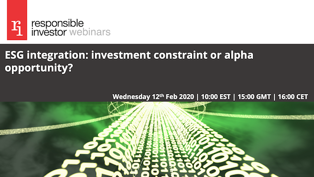 ESG integration: investment constraint or alpha opportunity?