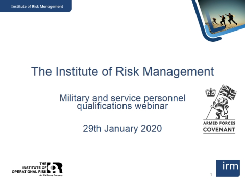 Risk Management and the military