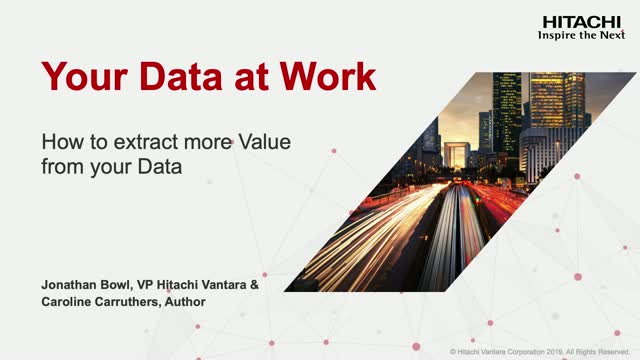 DATA AT WORK - how to extract more value from your data