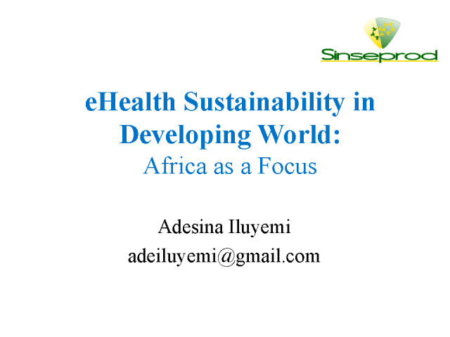 Understanding eHealth Sustainability in Developing Countries