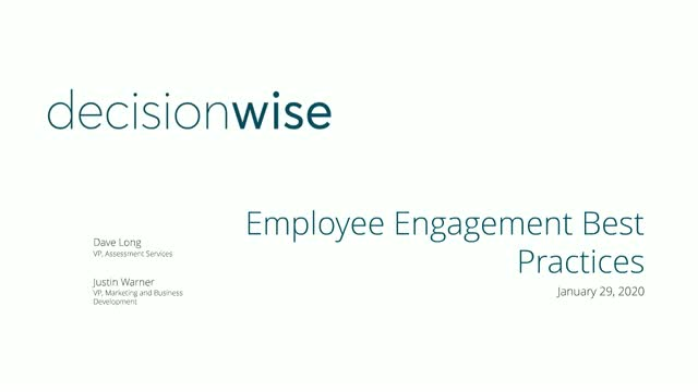 Employee Engagement Best Practices in 2020