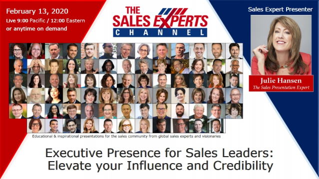 Executive Presence for Sales Leaders: Elevate your Influence and Credibility