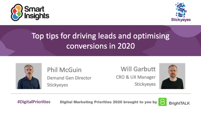 Top tips for driving leads and optimising conversions in 2020
