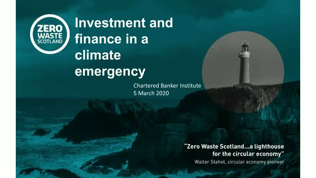 Investing and finance in climate emergency