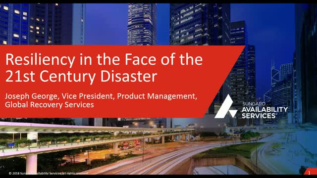 Resiliency in the Face of the 21st Century Disaster