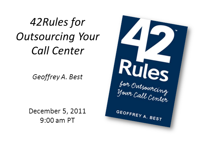 42 Rules for Outsourcing your Call Center