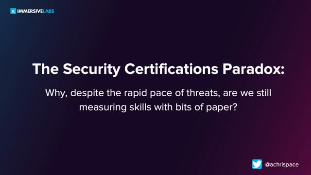 The Cybersecurity Certifications Paradox