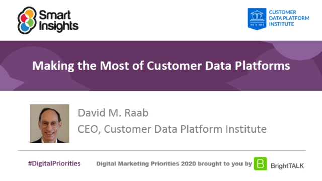 Making the most of customer data platforms