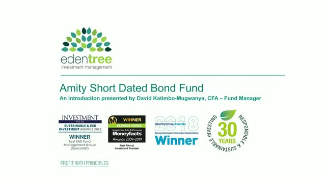 EdenTree Amity Short Dated Bond Fund for Charities Introduction