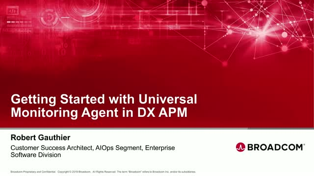 Getting Started with Universal Monitoring Agent in DX APM