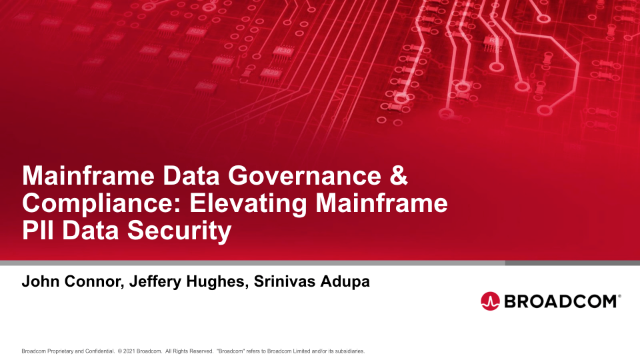 Mainframe Data Governance & Compliance: Elevating Mainframe PII Data Security
