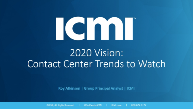 2020 Vision: Contact Center Trends to Watch