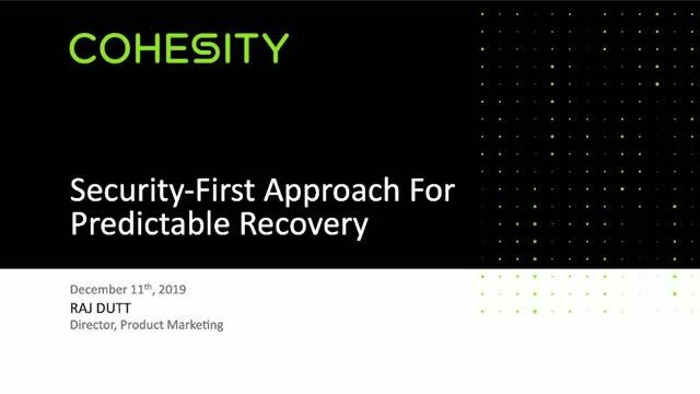 A Security-First Approach: Paving a Path to Predictable Recovery