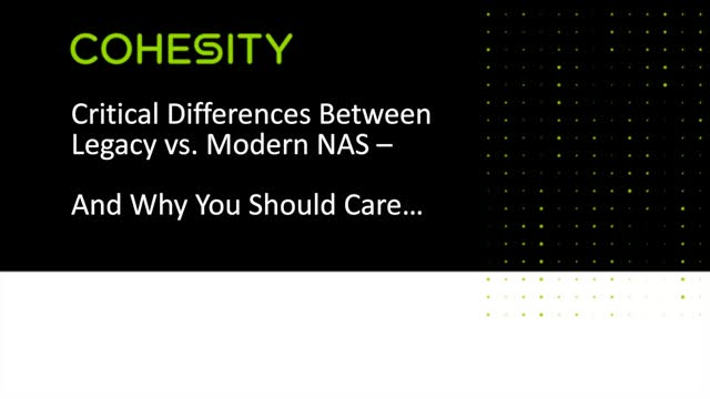 Critical Differences Between Legacy vs. Modern NAS, and Why You Should Care