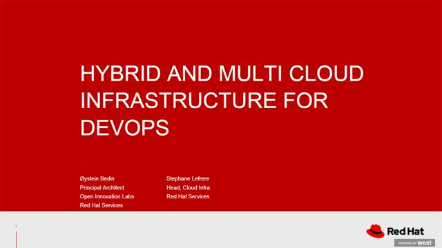 Hybrid and Multi Cloud Infrastructure for DevOps