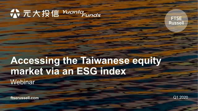 Accessing the Taiwanese equity market via an ESG index