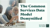 The Common Services Data Model Demystified